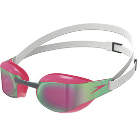 speedo Fastskin Elite Mirror Goggles White/Red